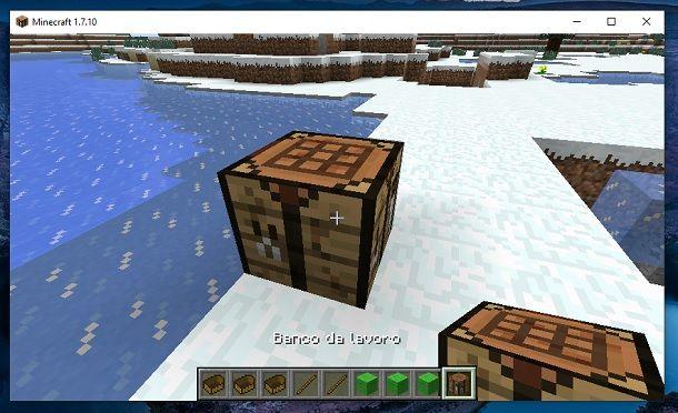 Banco da lavoro Minecraft Mod