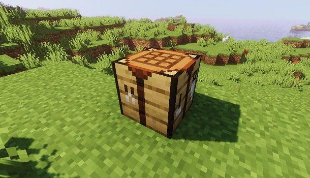 Banco da lavoro su Minecraft