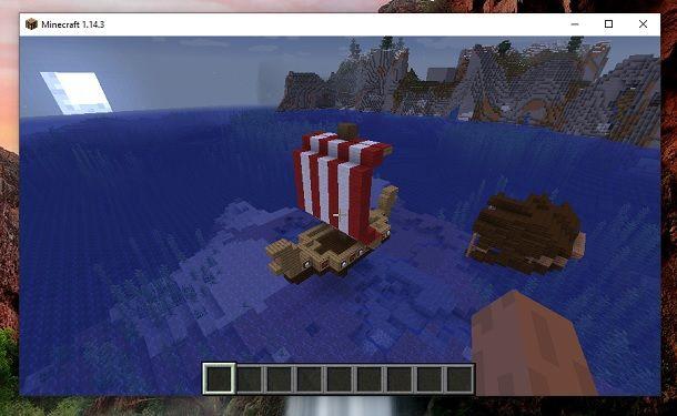 Barca vichinga finita Minecraft