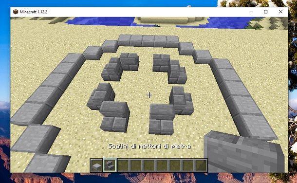 Base scalini fontana Minecraft
