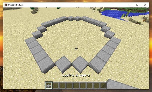 Base struttura fontana Minecraft