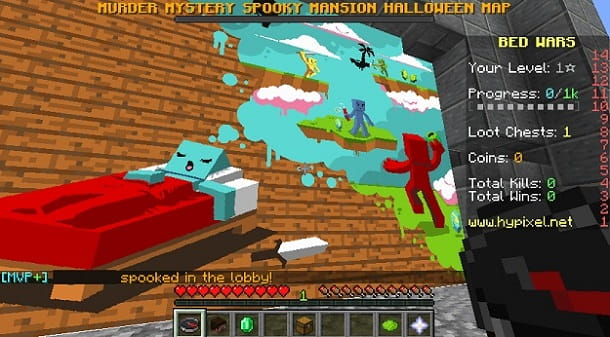 BedWars Illustrazione Minecraft