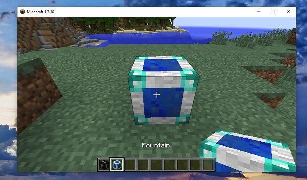 Blocco fontana Minecraft