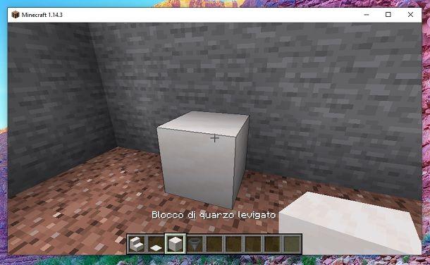 Blocco quarzo Minecraft