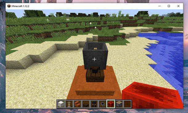 Calderone incastrato Minecraft