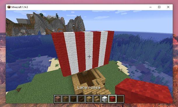 Centro bandiera Minecraft