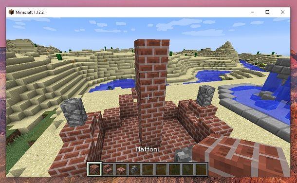 Colonna mattoni Minecraft