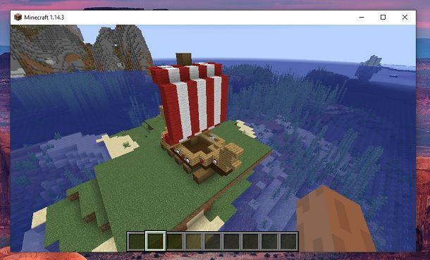 Come fare una barca vichinga su Minecraft
