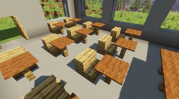 Costruire banchi su Minecraft
