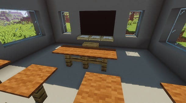 Costruire una scuola su Minecraft