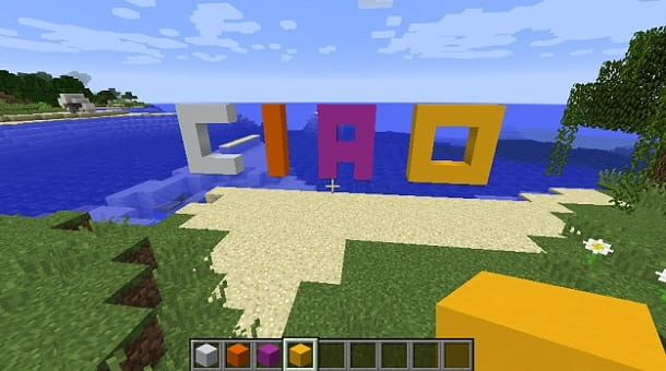 Creare calcestruzzo Minecraft