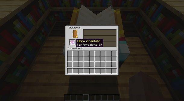 Creare un libro incantato su Minecraft
