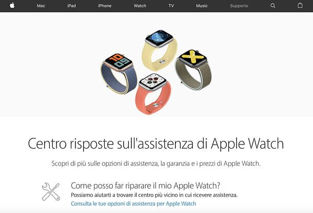 Supporto Apple Watch