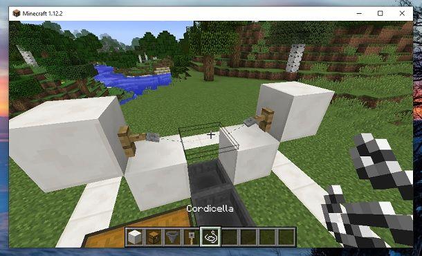 Gancio per filo ad inciampo e Cordicella Minecraft