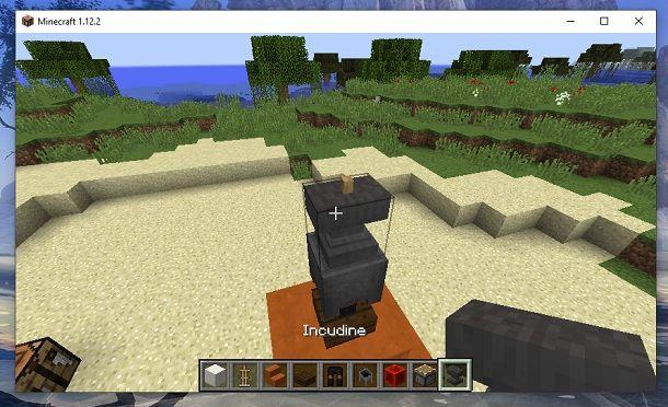 Incudine incastrata Minecraft