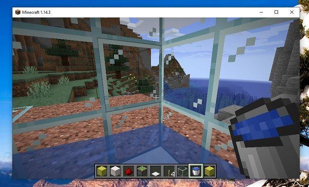 Interno doccia Minecraft