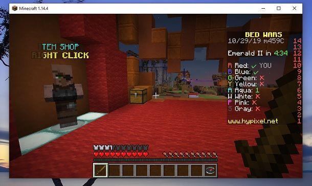 Item Shop BedWars Minecraft