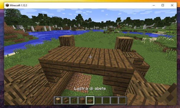 Lastra di abete Minecraft