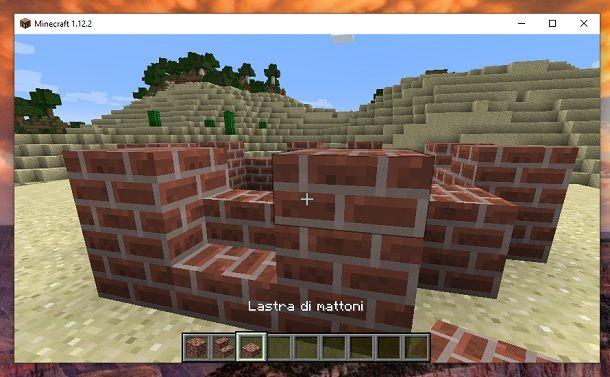 Lastra di mattoni Minecraft