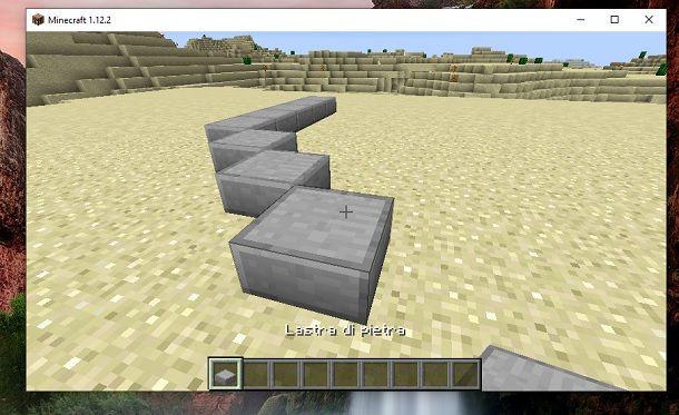 Lastra di pietra obliquo Minecraft