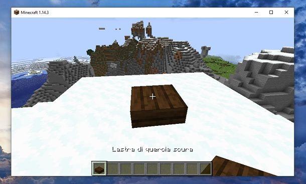 Lastra di quercia scura Minecraft