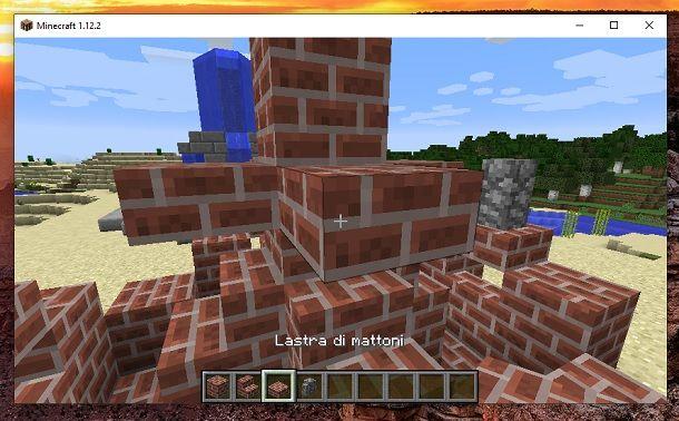 Lastra mattoni alto Minecraft