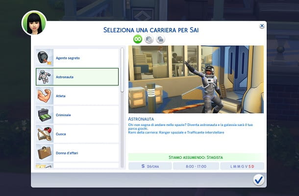 Lavoro full-time The Sims 4