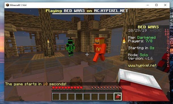 Lobby BedWars Minecraft
