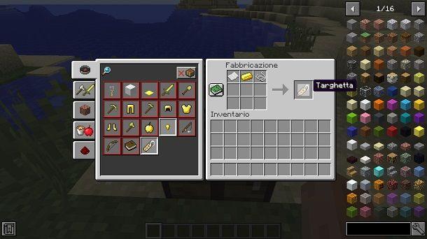 Mod per craftare una targhetta su Minecraft