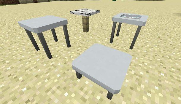 Mod per creare tavoli su Minecraft