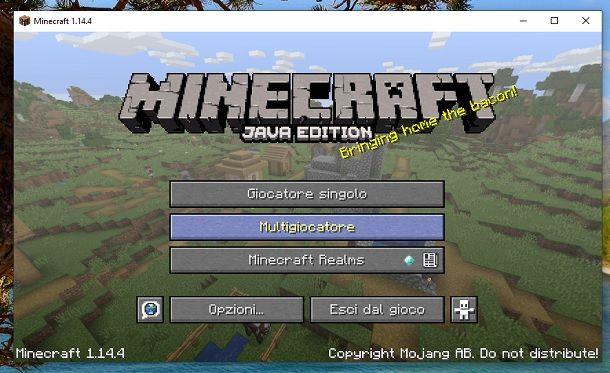Multigiocatore Minecraft
