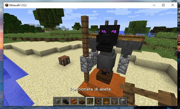 Muretto e staccionata di abete Minecraft