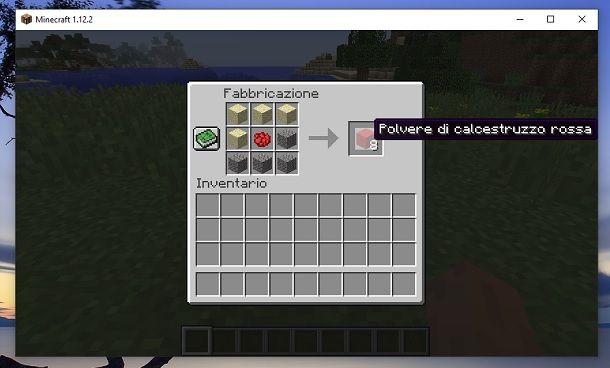 Polvere di calcestruzzo rossa Minecraft