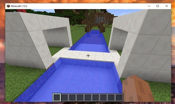 Ponte automatico finito Minecraft