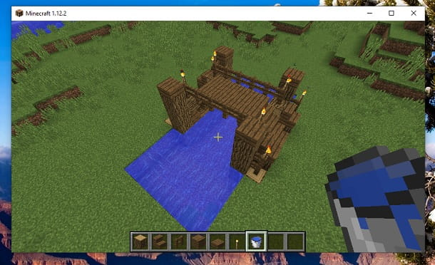 Ponte su Minecraft
