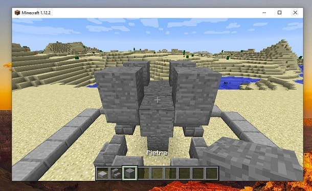 Quattro blocchi pietra alto Minecraft