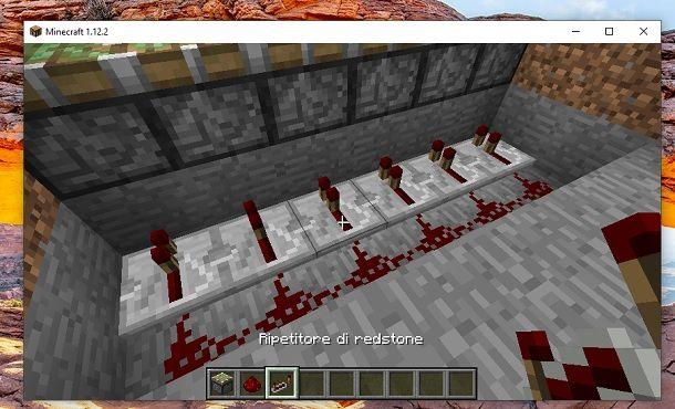 Redstone e ripetitori di redstone Minecraft