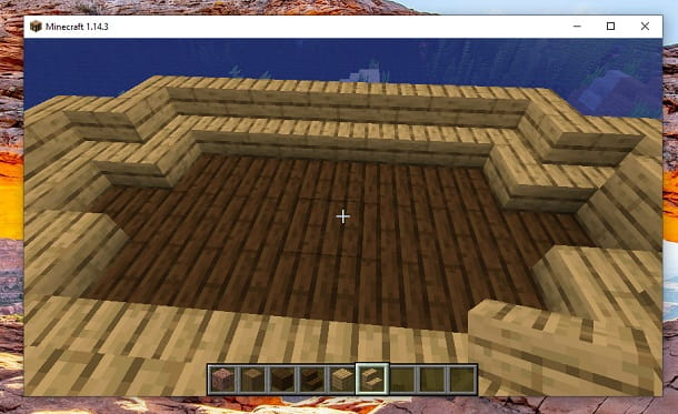 Sagoma barca Scalini di quercia Minecraft