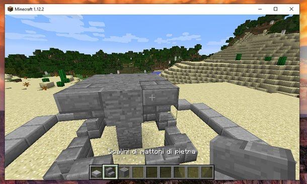 Scalini alto quattro angoli Minecraft