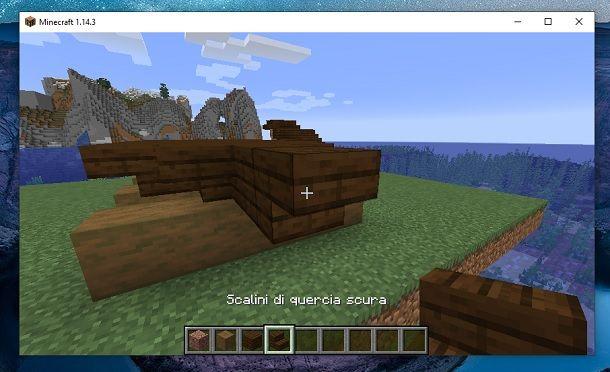 Scalini blocchi davanti Minecraft