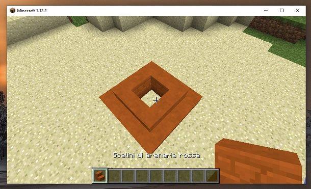 Scalini di arenaria rossa Minecraft