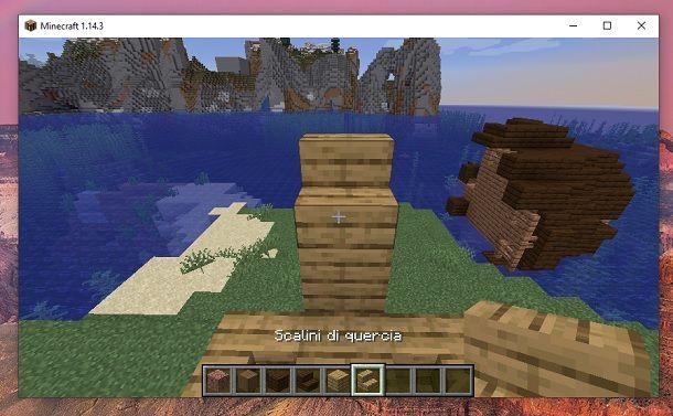 Scalini di quercia lati Minecraft
