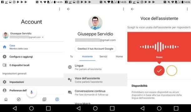 Cambiare voce Assistente Google Home