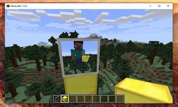 Specchio finito Minecraft