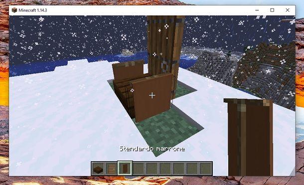 Stendardo Marrone Minecraft