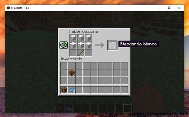 Stendardo bianco Minecraft