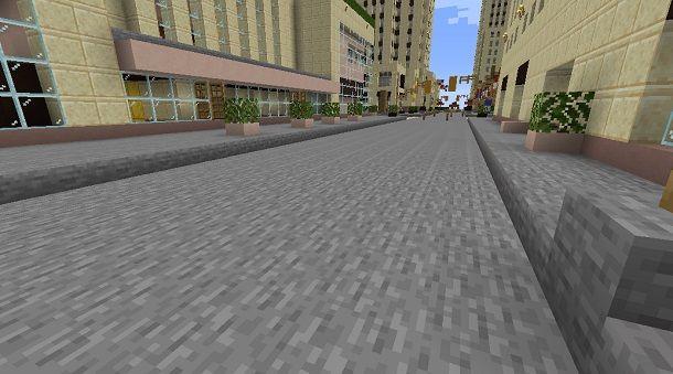 Strada su Minecraft