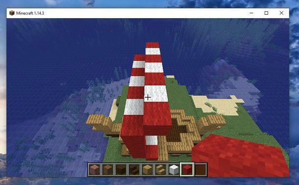 Strato indietro bandiera nave Minecraft