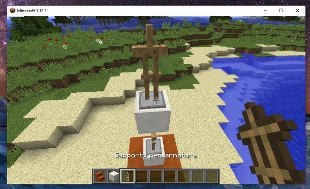 Supporto per armatura alto Minecraft