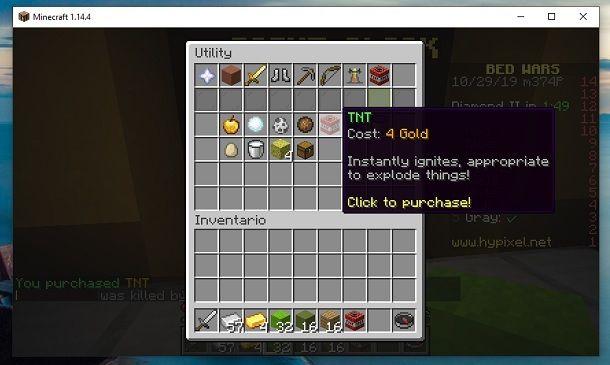 TNT BedWars Minecraft